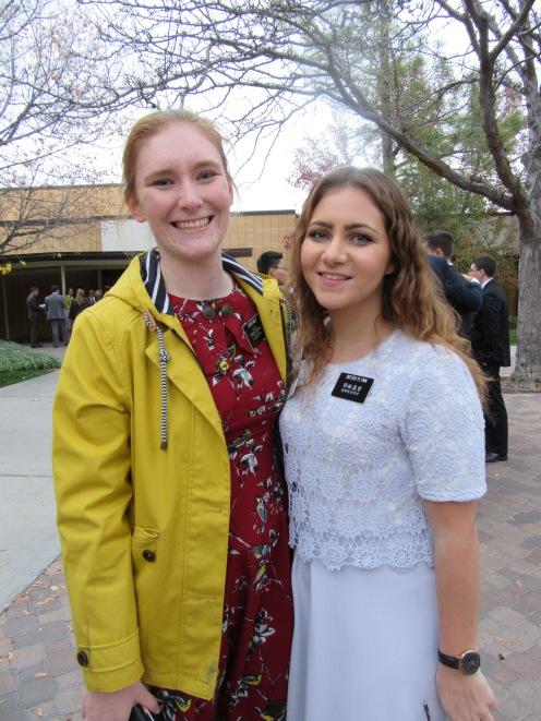 Soeur Holt and Sister Flynn