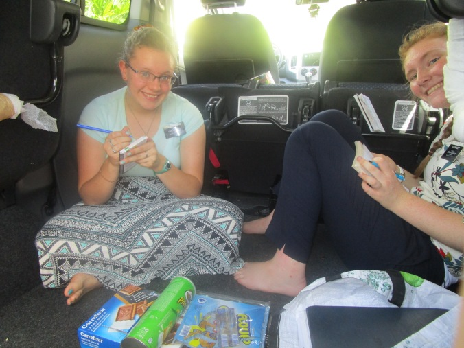 weekly planning in the dad van, because we needed to mix things up a little bit
