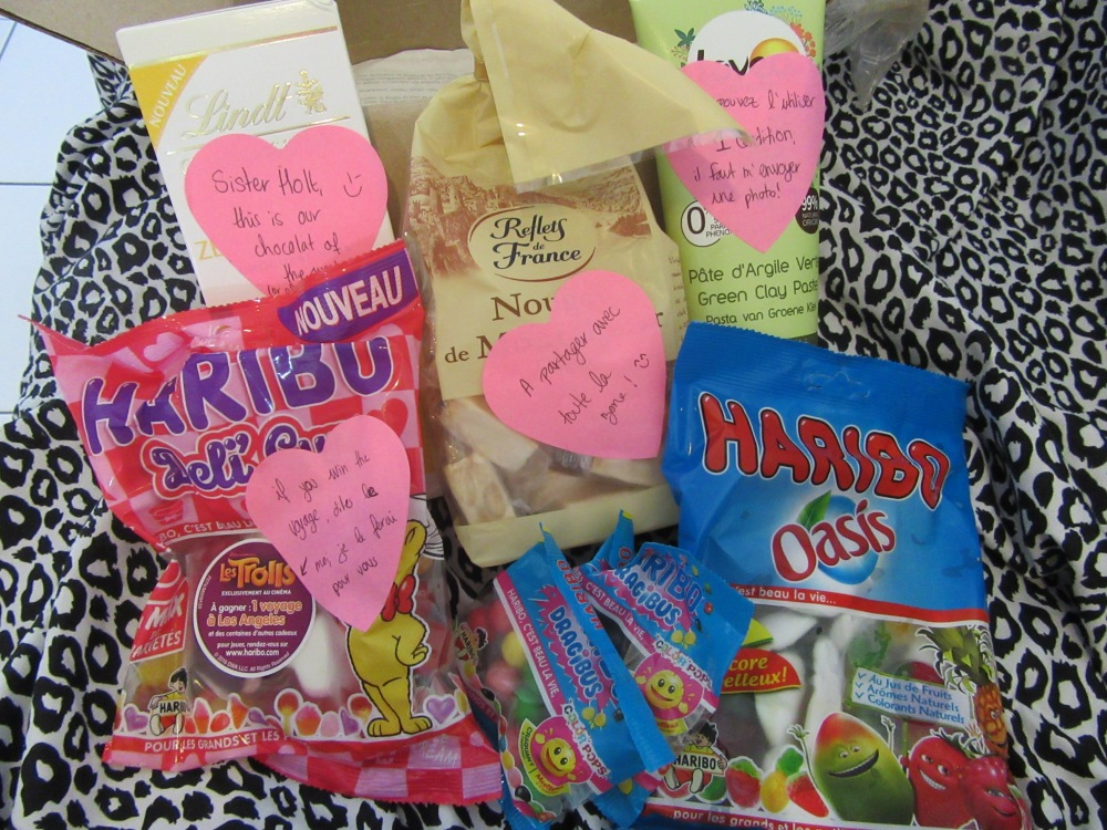 my trainer loves me!! parcel from france