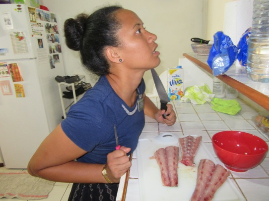 she is a maniac but she knows how to cook fish!!