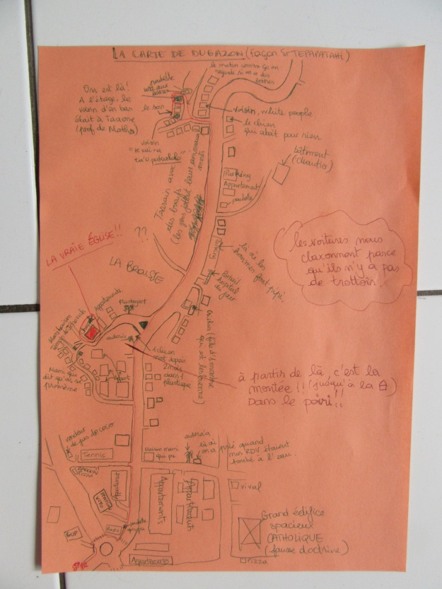 sr t drew a map of our area!! so hilarious
