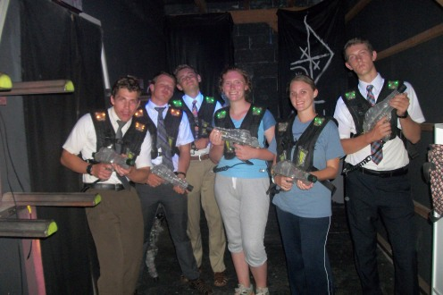 laser tag last pday, you will never guess who lost (me!!)