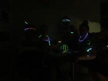 we found some glow sticks!