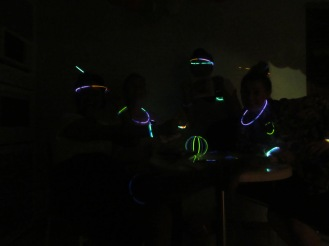 we found some glow sticks!